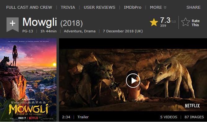 حصريا فيلم المغامرة والدراما الاكثر من رائع Mowgli Legend of the Jungle (2018) 720p  WEB-DL مترجم بنسخة الويب ديل 2018-281