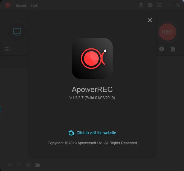 حصريا البرنامج الرائع للتصوير الشاشة والالعاب ApowerREC 1.3.3.7 + Crack [Latest Version 2019 باحدث اصدراته + التفعيل 322
