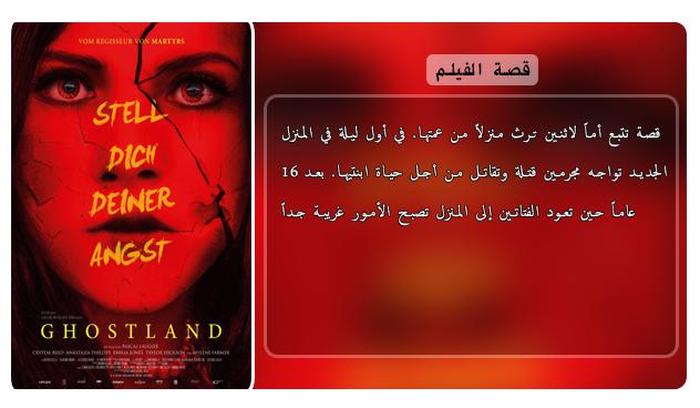 حصريا فيلم الدراما والرعب والجريمة الدموي الرائع Ghostland (2018) 720p BluRay مترجم بنسخة البلوري Aao420