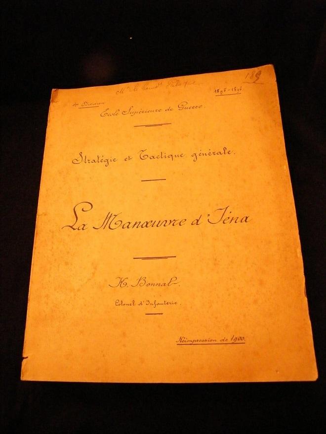 La Manoeuvre d'Iéna Stratégie tactique H.Bonnal 1900 Cartes La_man10
