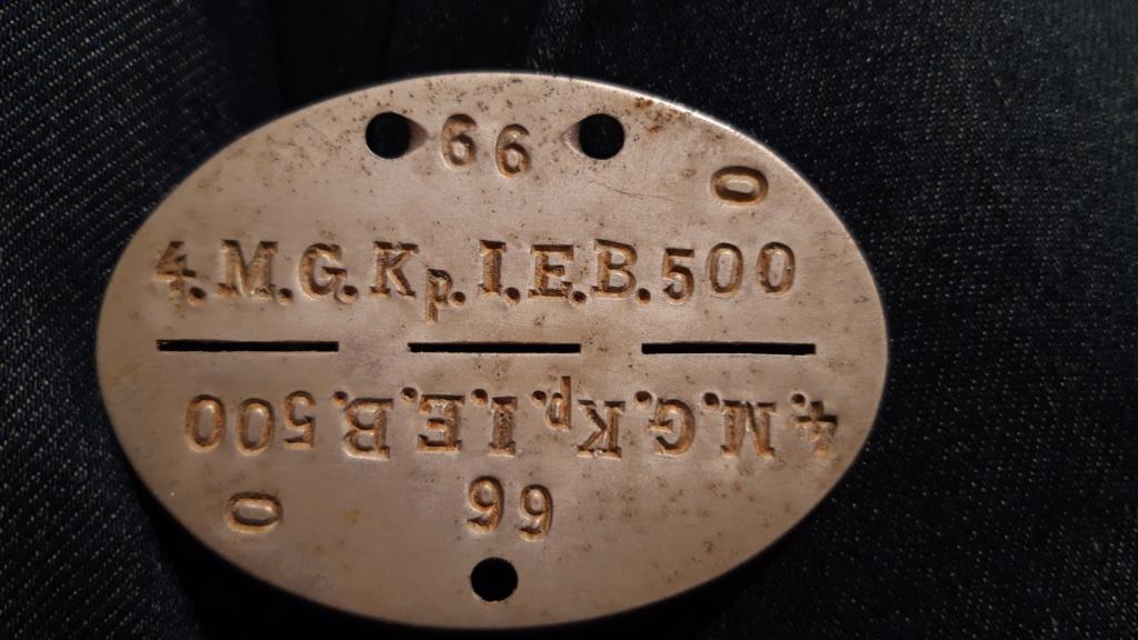 Une plaque d'identité allemande WWII 20190130
