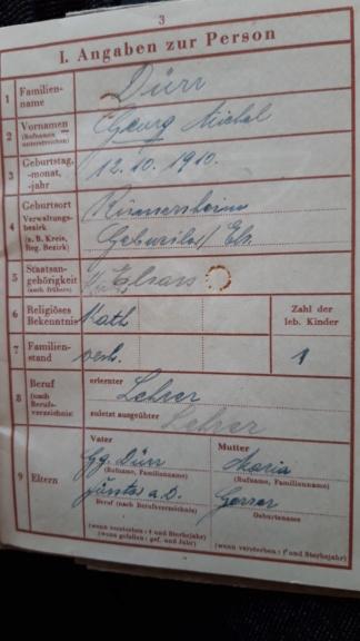 Wehrpass d'un Alsacien 1944 Ville de naissance? 20190526