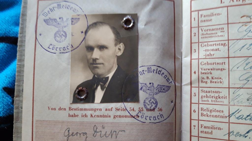 Wehrpass d'un Alsacien 1944 Ville de naissance? 20190527