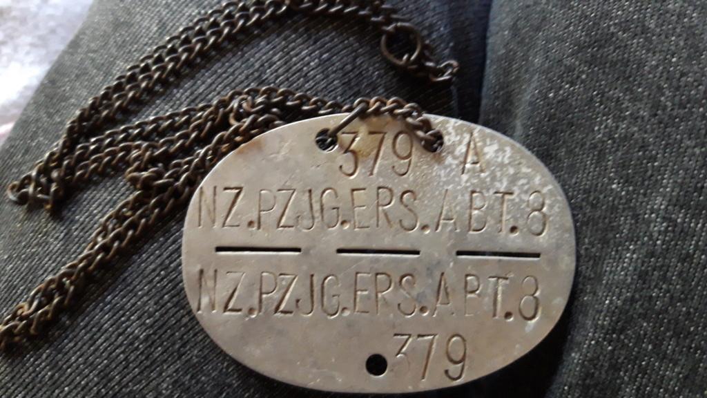 Une plaque d'identité Allemande WWII 20191010