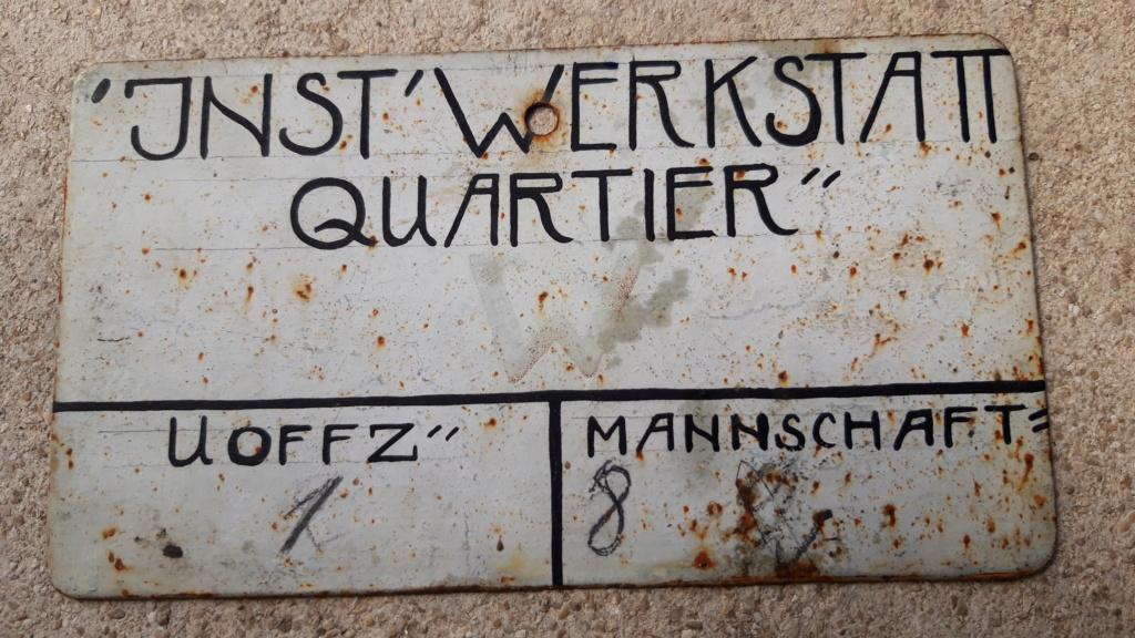 Plaque allemande métal 20200854