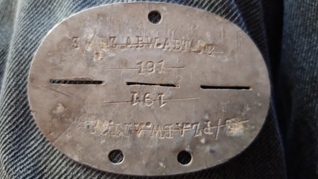 Plaque d'identité Allemande WWII réaffectée 20200866