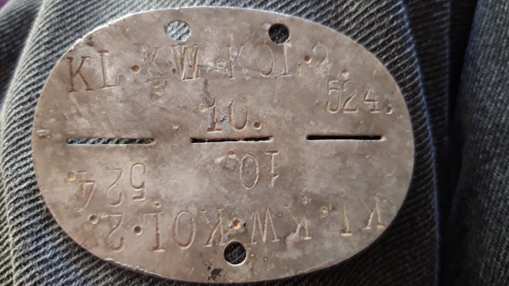 Plaque d'identité Allemande WWII réaffectée 20200867