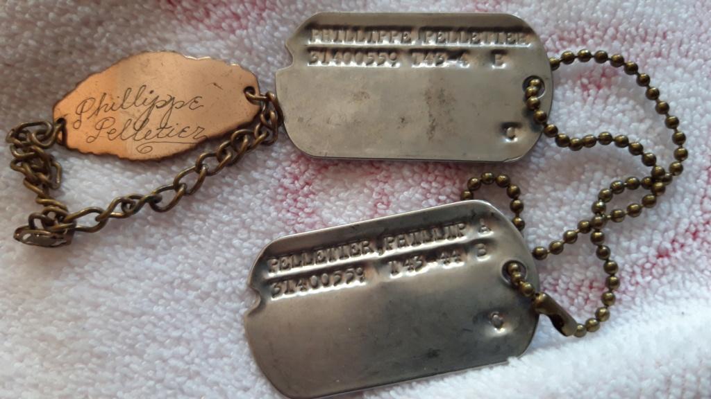Plaques U.S.  et Bracelet WWII 20201124