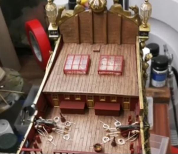 Mon deuxième bateau de Mantua/Sergal,le Soleil royal au 1/77éme de 1693  - Page 5 Cage_a10