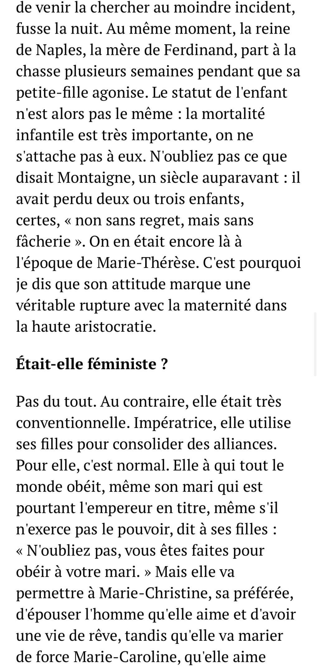 Marie-Thérèse d'Autriche : Le pouvoir au féminin & Les conflits d'une mère. De Elisabeth Badinter - Page 2 2ab86710