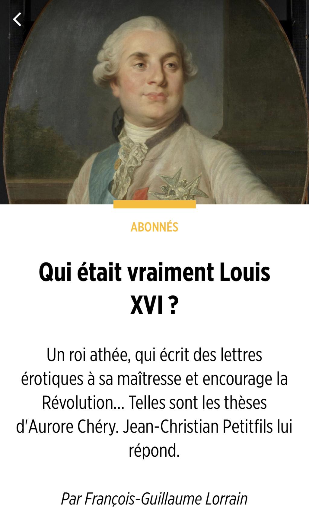 Louis XVI l'intrigant. D'Aurore Chéry 2f075810