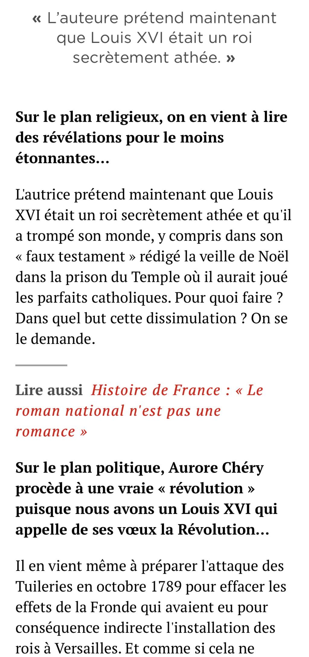 Louis XVI l'intrigant. D'Aurore Chéry 38a71710