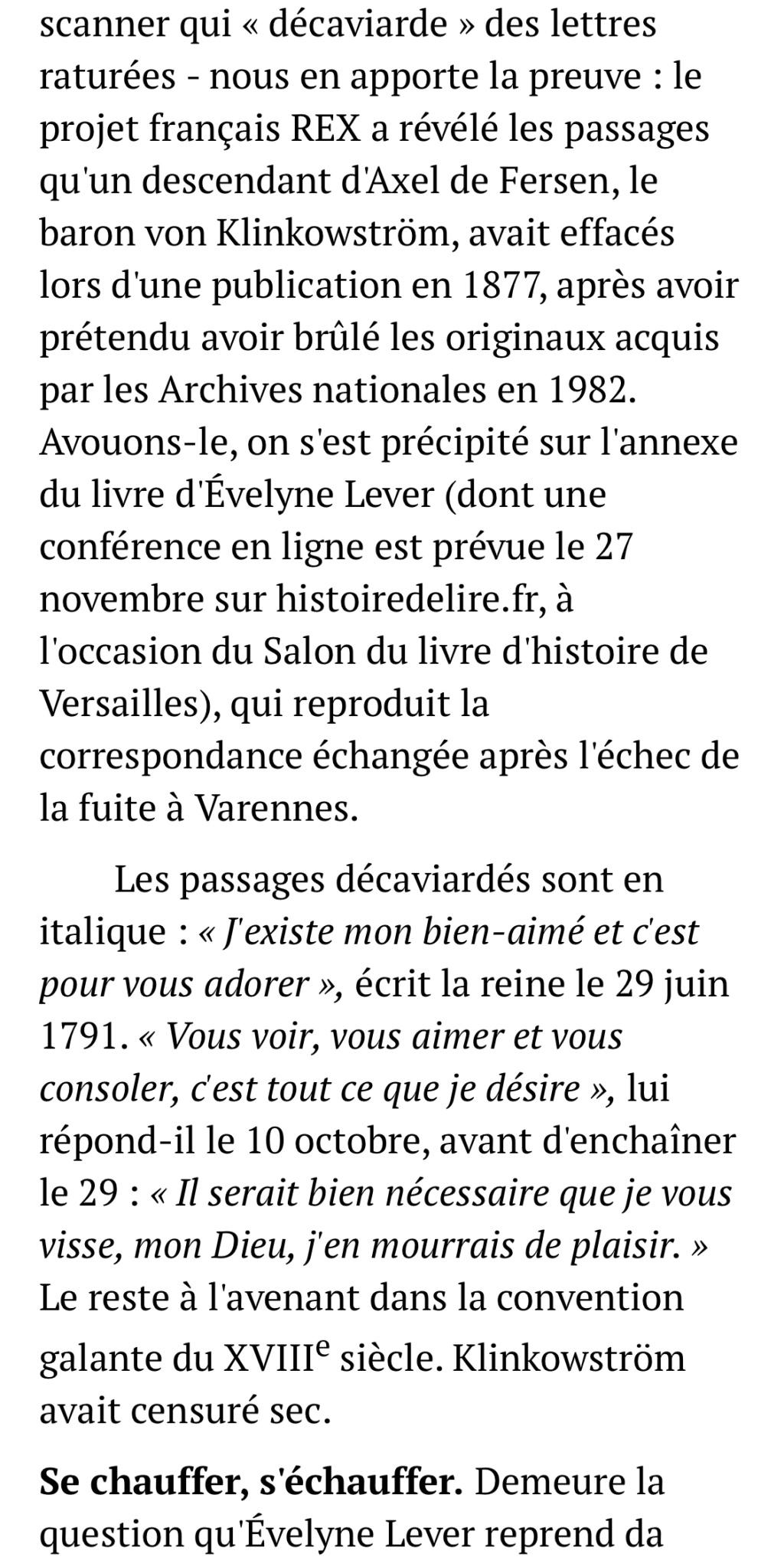 D'Evelyne Lever, Le grand amour de Marie-Antoinette, lettres secrètes de la reine et du comte de Fersen - Page 3 4aa87f10