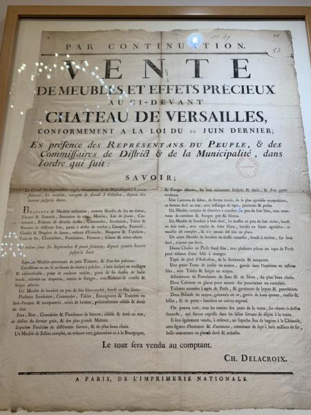 1793 : Vente aux enchères du mobilier de Versailles et du Petit Trianon 629d7810