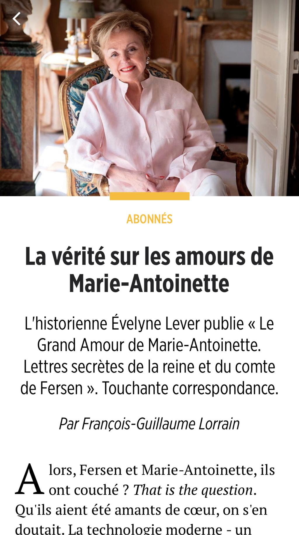 Evelyne Lever Fersen - D'Evelyne Lever, Le grand amour de Marie-Antoinette, lettres secrètes de la reine et du comte de Fersen - Page 3 63398c10