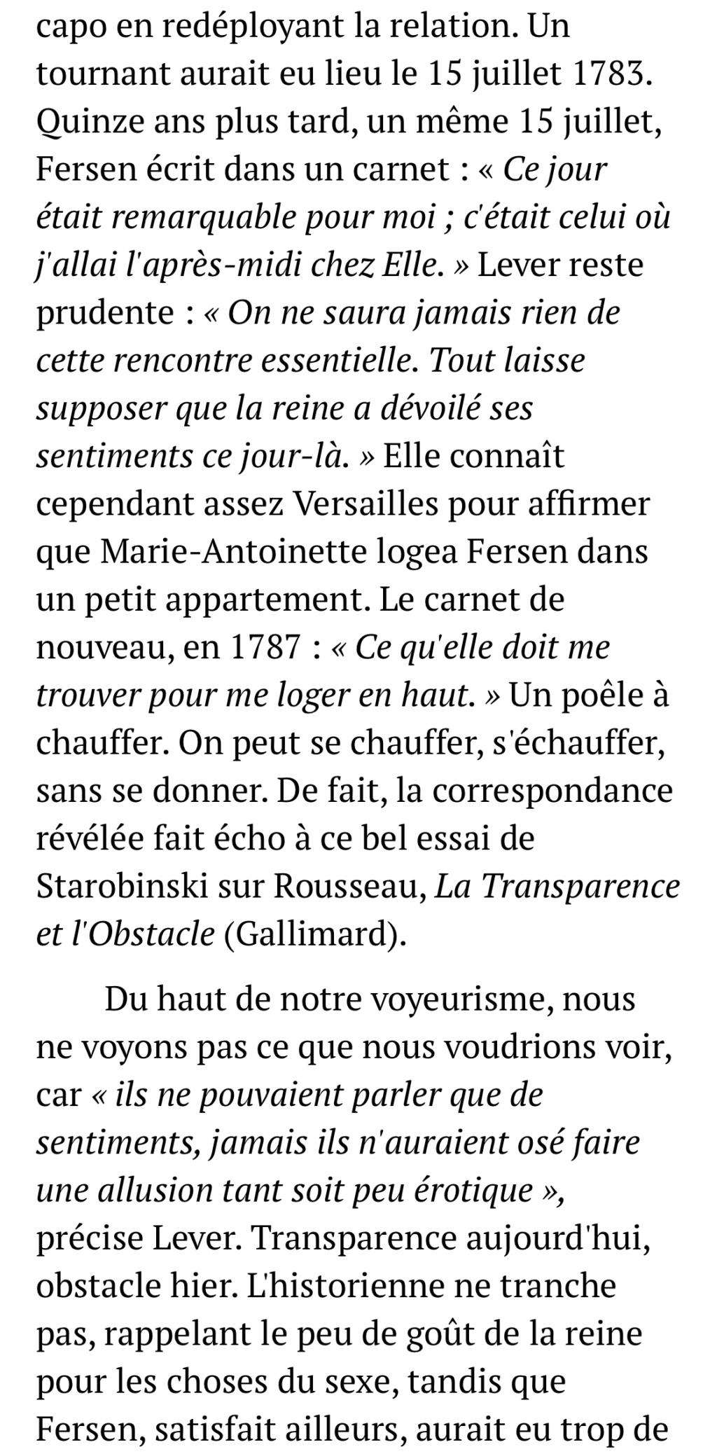 D'Evelyne Lever, Le grand amour de Marie-Antoinette, lettres secrètes de la reine et du comte de Fersen - Page 3 7275e810