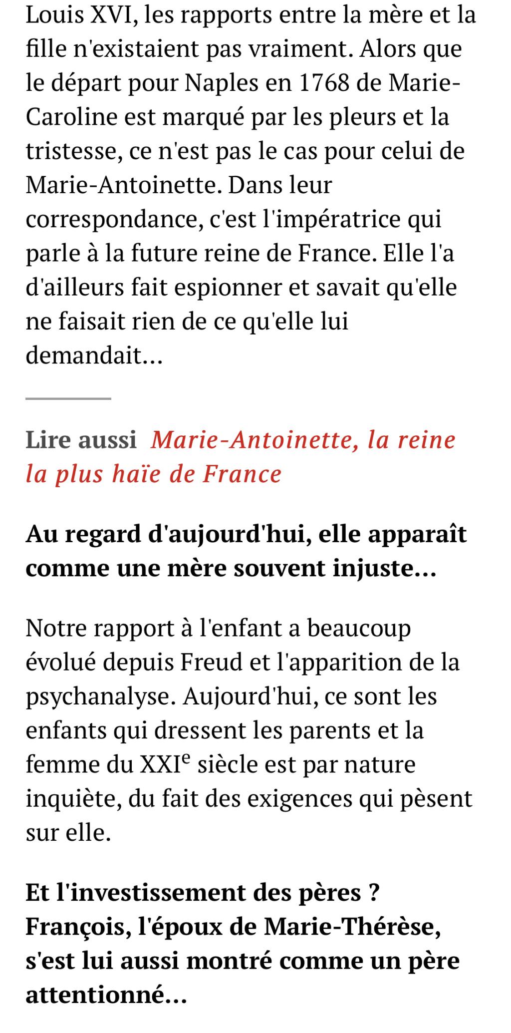 Marie-Thérèse d'Autriche : Le pouvoir au féminin & Les conflits d'une mère. De Elisabeth Badinter - Page 2 8139e810