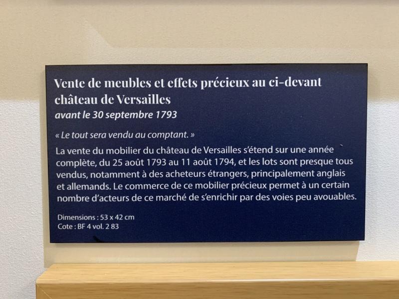 1793 : Vente aux enchères du mobilier de Versailles et du Petit Trianon 9260a310
