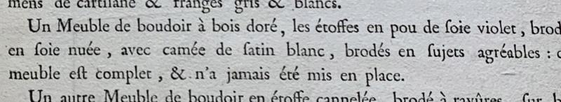 1793 : Vente aux enchères du mobilier de Versailles et du Petit Trianon A1c02310