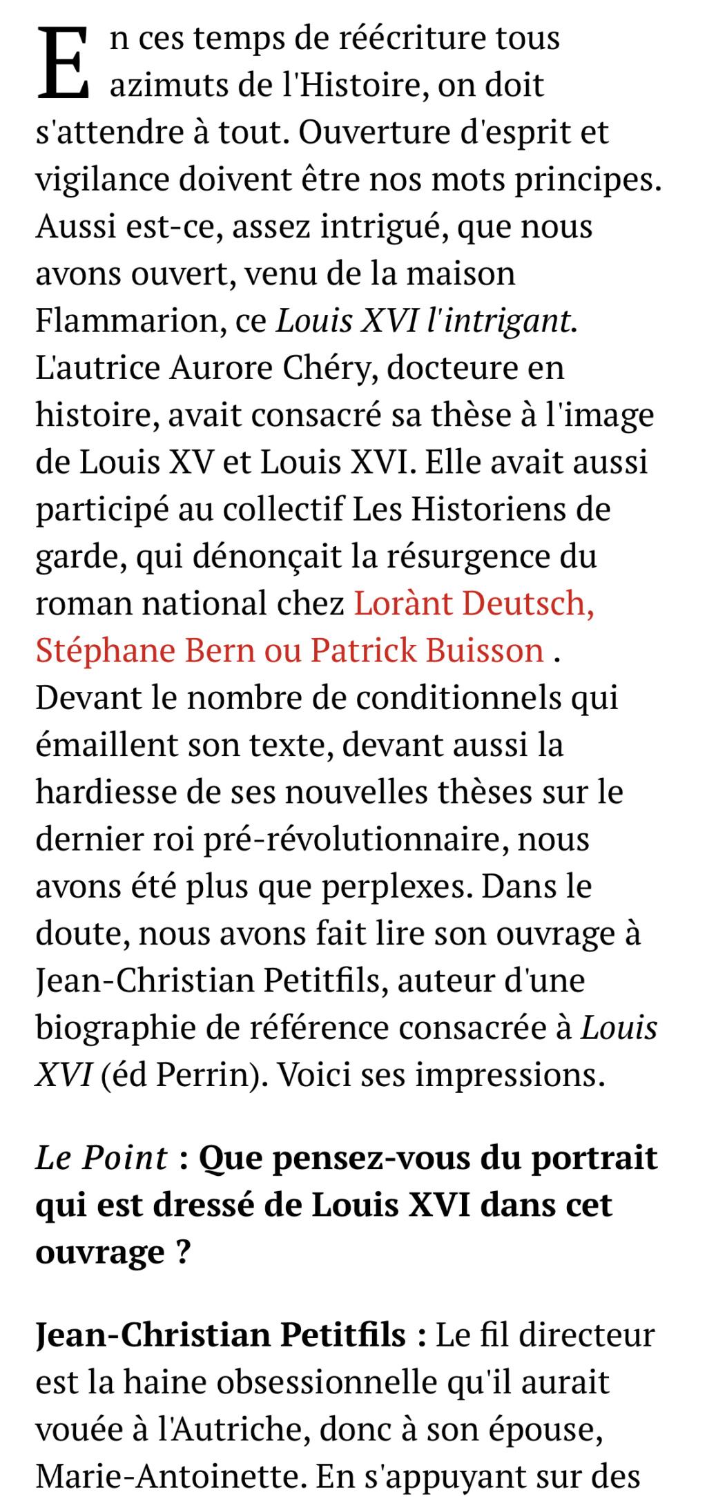 Louis XVI l'intrigant. D'Aurore Chéry C6791810