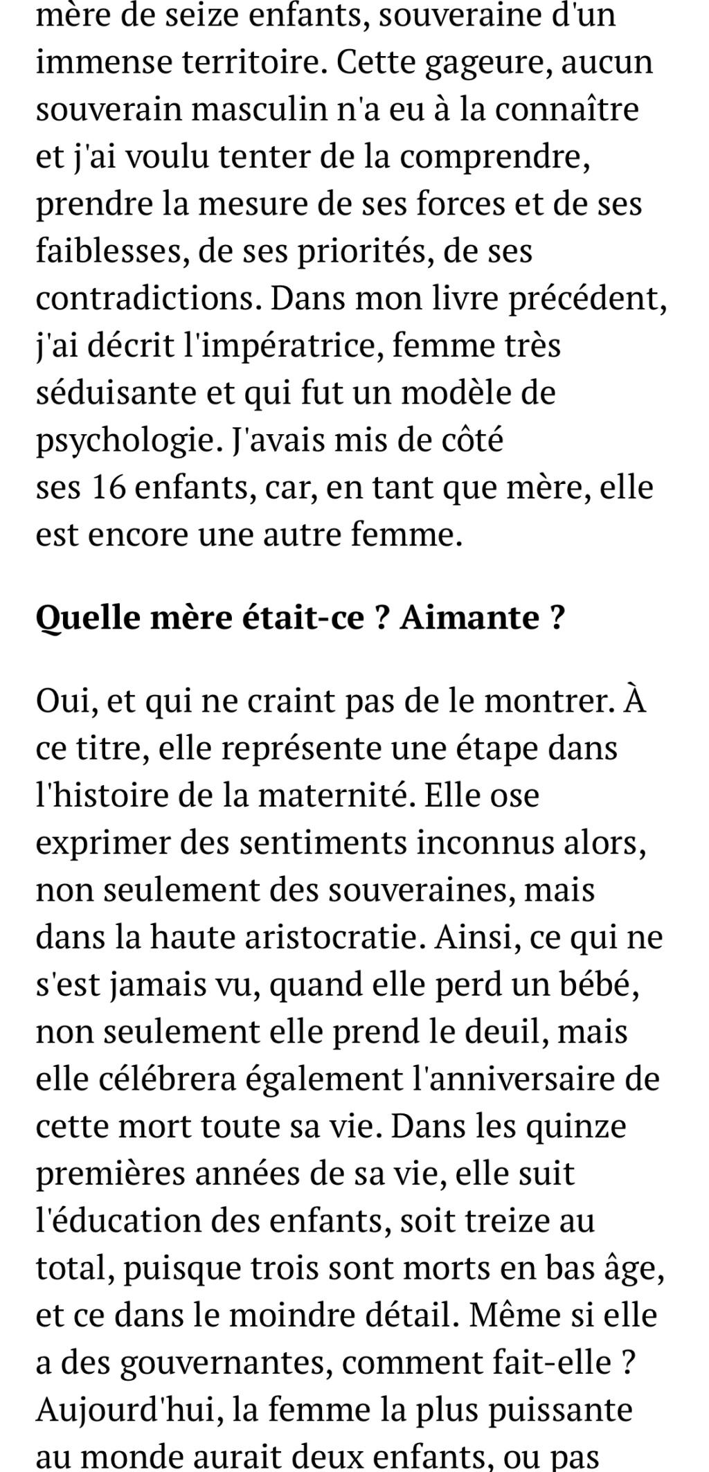 Marie-Thérèse d'Autriche : Le pouvoir au féminin & Les conflits d'une mère. De Elisabeth Badinter - Page 2 E834cd10