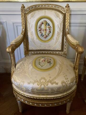 Le cabinet du Billard de Marie-Antoinette au deuxième étage