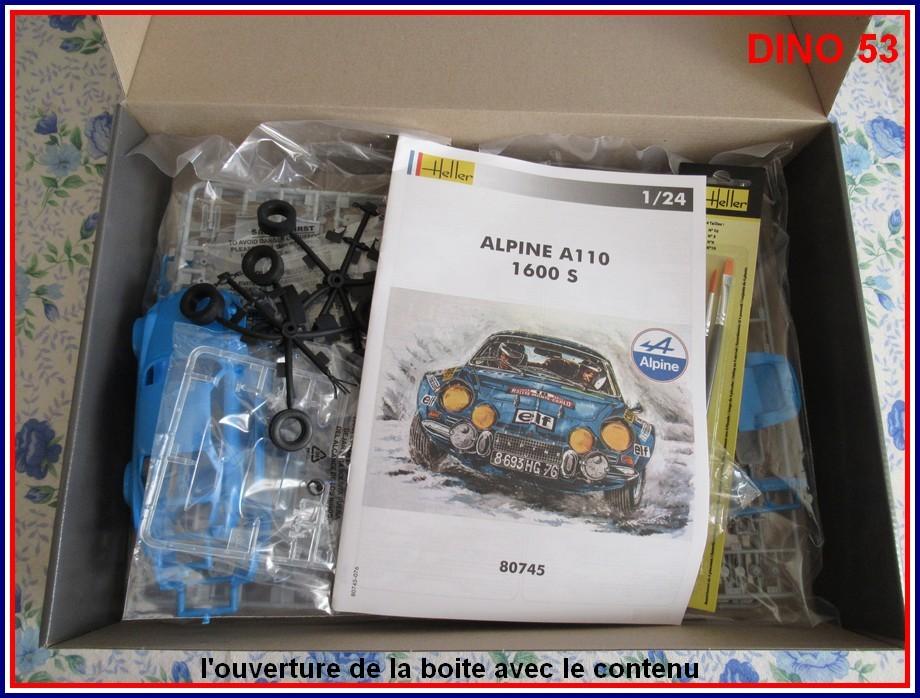 ALPINE A110 1600S  X2 DISPONIBLE CHEZ JOUETCLUB Coffre11