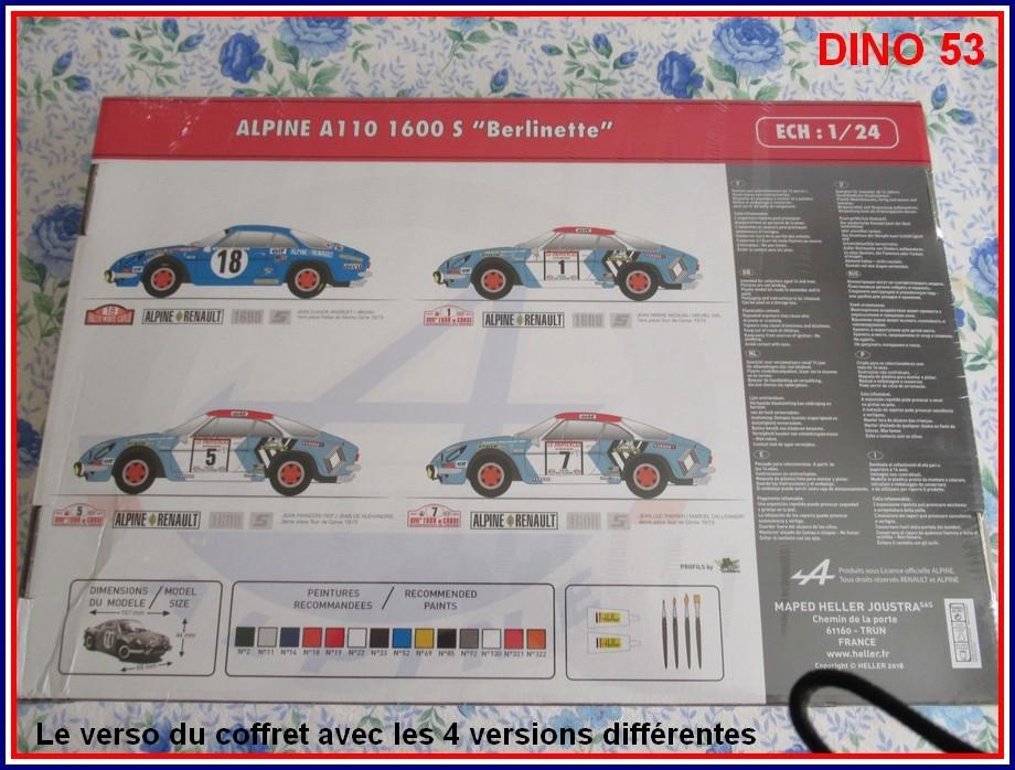 ALPINE A110 1600S  X2 DISPONIBLE CHEZ JOUETCLUB Coffre12