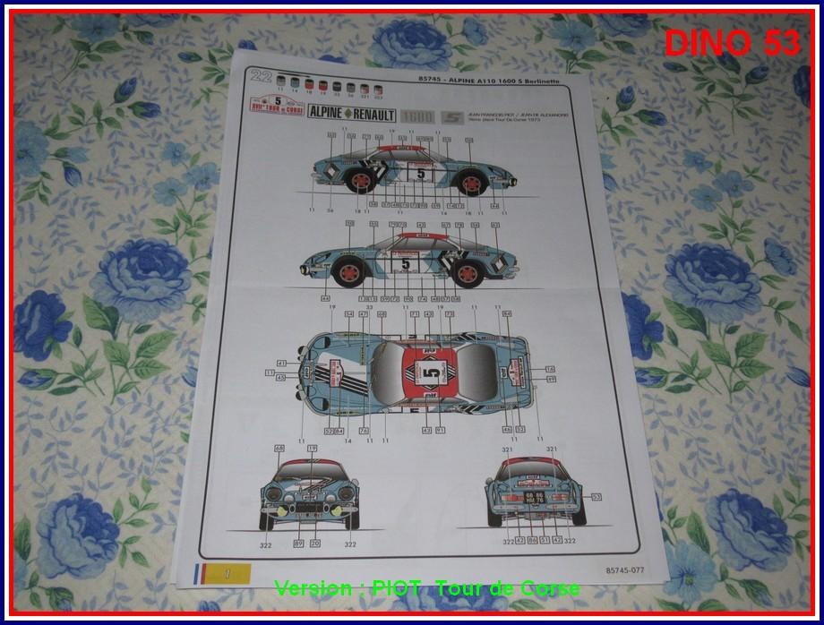 ALPINE A110 1600S  X2 DISPONIBLE CHEZ JOUETCLUB Coffre23