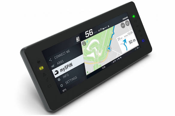 Techno : écran divisé (smartphone / Gps...) pour moto Bosch_10
