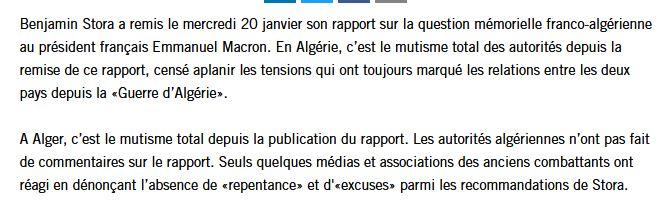 """Algérie : Benjamin Stora dénonce ceux qui vivent d'une '""""rente mémorielle"""" 000110"""