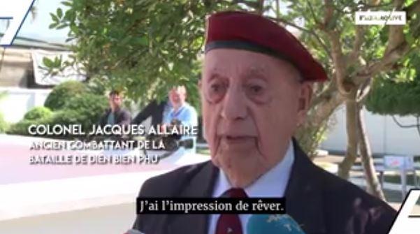 """le premier ministre au viet nam. J'ai l'impression de rêver"""", Colonel Jacques Allaire, ancien combattant à Dien Bien Phu 000dbp10"""