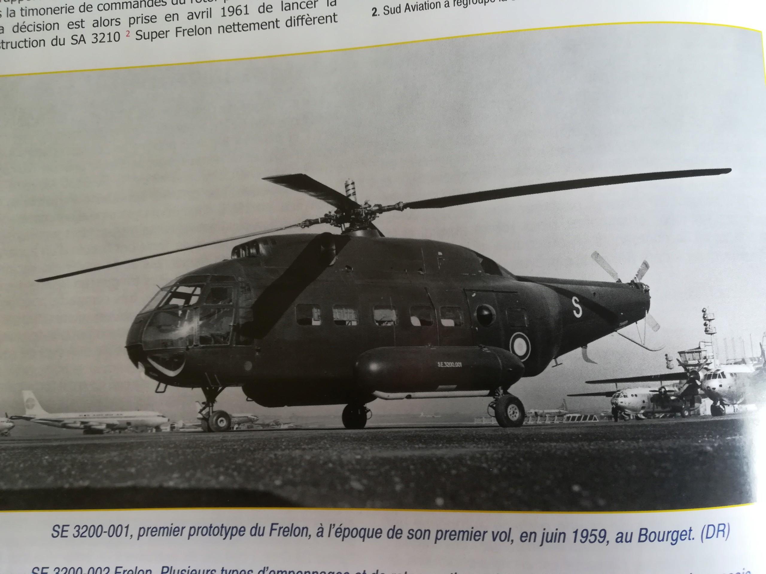 SUD AVIATION SE 3200 FRELON 1/50ème Réf 498 Img_2035