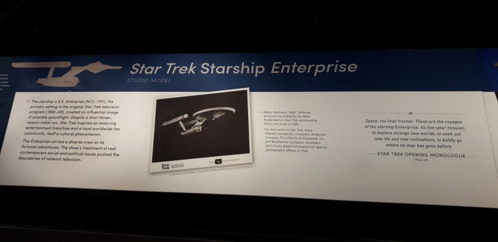 USS Enterprise TOS : modèle de tournage au Smithsonian Washington 20190616