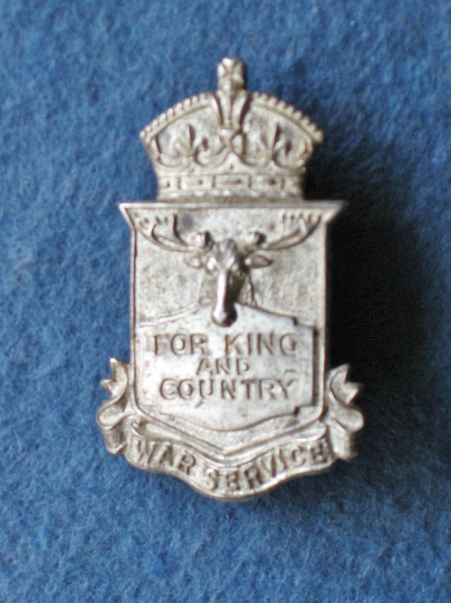 Unknow Numbered Silver War Service Badge Img_5210