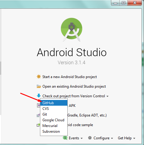 how to use  github project on android studio Screen30