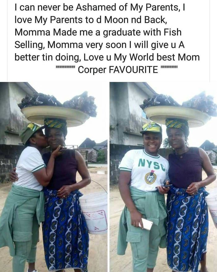 Female Corper Shows Off Her Mom Who Sold Fish To Sponsor Her Education 1-123-10