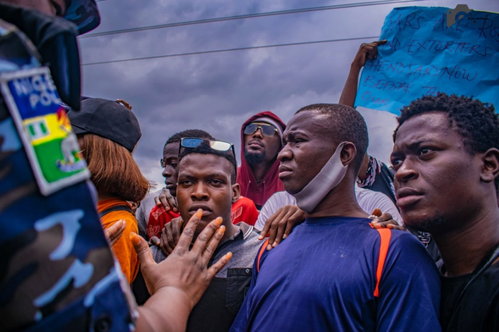 Pictures From The EndSARS Protest In Egbeda, Lagos 1-311