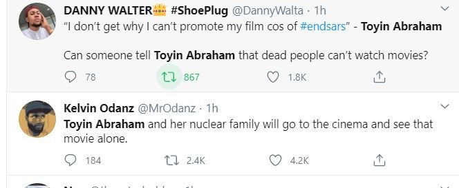Nigerians Drag Actress, Toyin Abraham For Saying This 1-411