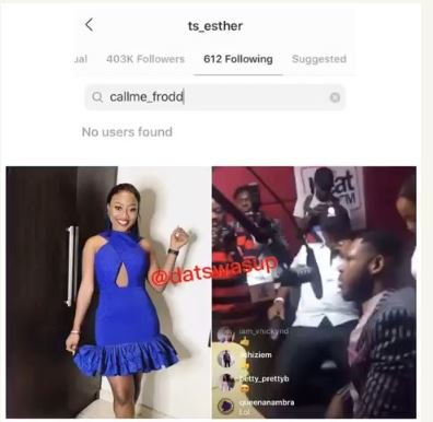 Esther Unfollows Frodd On Instagram After He Said This (Read Details) 1-5211