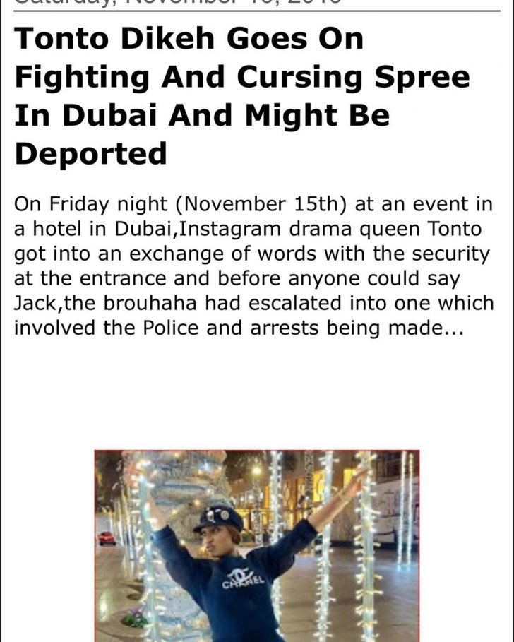 Police Arrest Tonto Dikeh In Dubai, Might Be Deported – Sources Gives Update 1-87-710