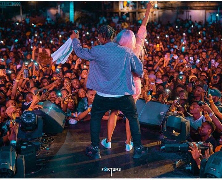 Zlatan Rocks DJ Cuppy At His Concert (See Photos) 10521912
