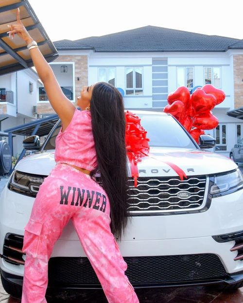 Mercy Eke Gifts Herself A Range Rover Velar As She Celebrates Her 27Th Birthday 12020410