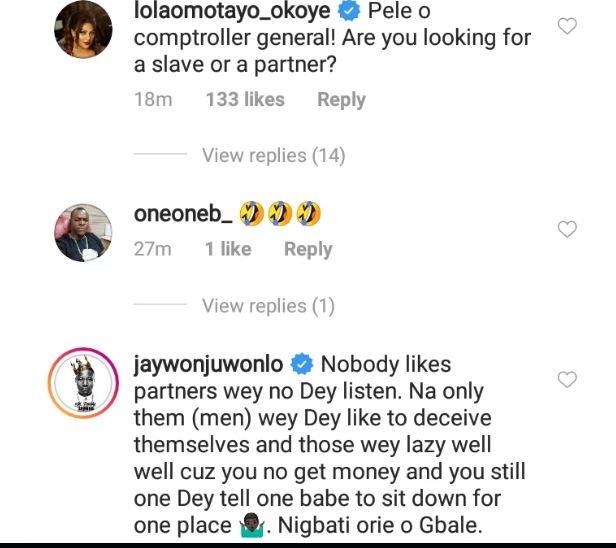 Peter Okoye's Wife, Lola, Others Blasts Zlatan Ibile Over Girlfriend's Post 1211