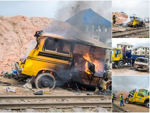 Many Feared Dead, Others Injured As Train Collides With Bus In Lagos (Photos) 2-13410