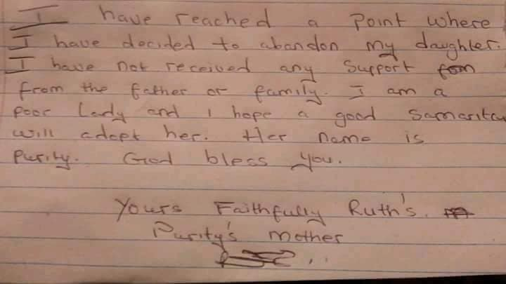 Unknown Woman Abandon Her Baby Girl With a Note Of Being ''Tired Of Life'' (Photo)   2-15511