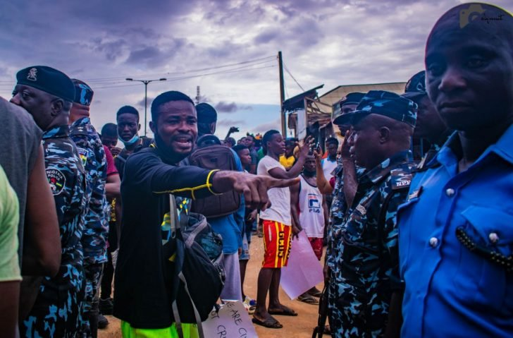 Pictures From The EndSARS Protest In Egbeda, Lagos 2-2-7210