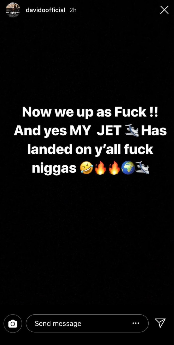 OBO Boss Davido, Gets Delivery Of His Private Jet In Lagos (Photos) 2-64-710