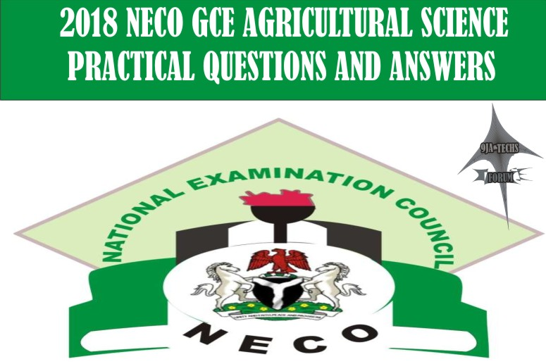 2018 Neco Gce Agricultural Science Practical Questions and Answers | Neco Gce Expo  2018_n30
