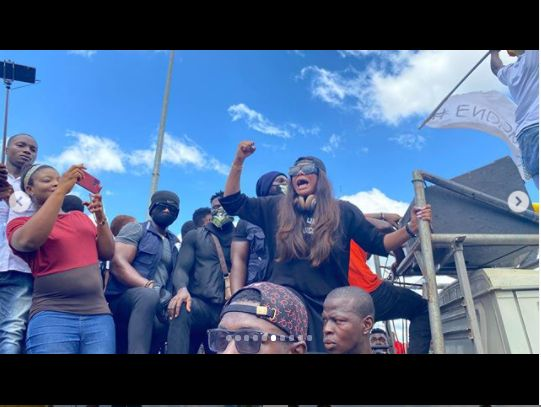 Actress, Angela Okorie Leads #endpolicebrutality Protest In Ebonyi (Photos) 2211